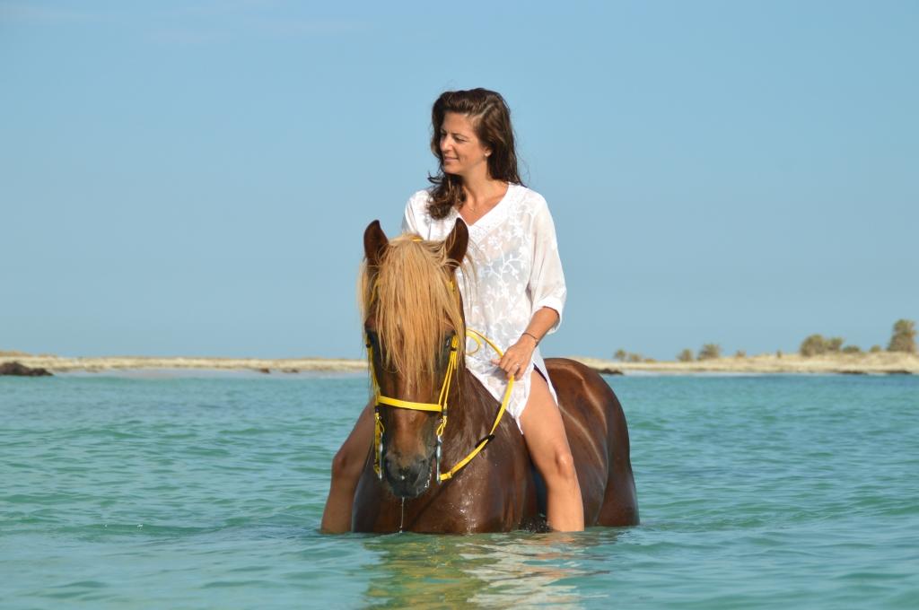 zwemmen met paarden fotografie